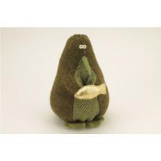 Авторская игрушка Пингвин с уловом