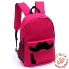 Розовый рюкзак Mustache