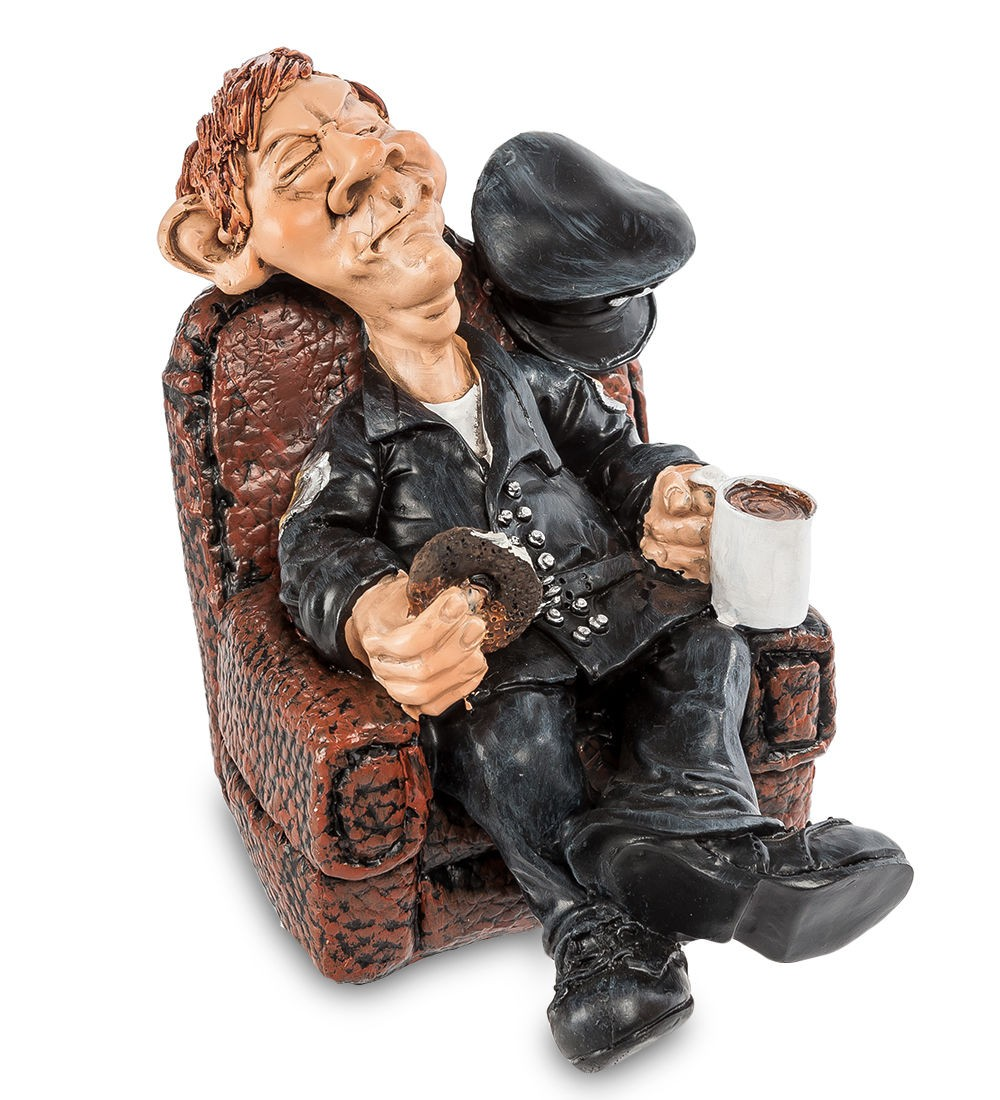 Статуэтка Полицейский в кресле