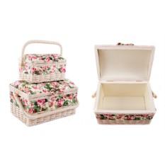 Набор шкатулок для рукоделия с цветочным мотивом