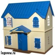 Игровой набор Village Story Домик с голубой крышей