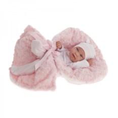Кукла-младенец Ирена в розовом Munecas Antonio Juan