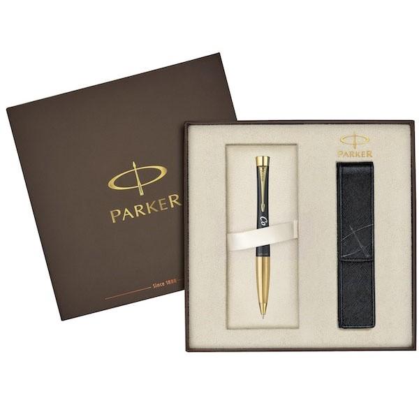 Набор (Parker шариковая ручка с гравировкой + футляр)