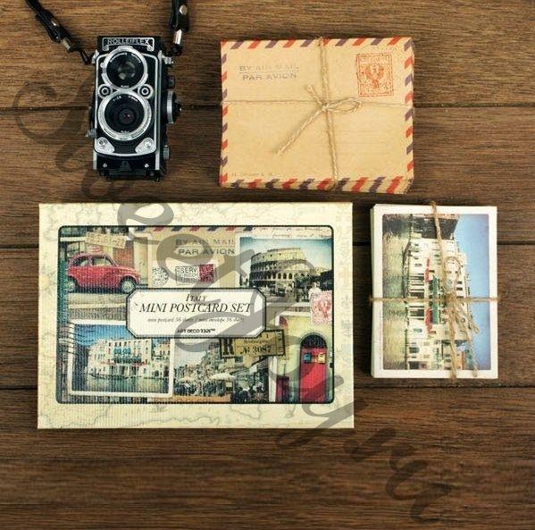 Набор мини-открыток с конвертами Italy