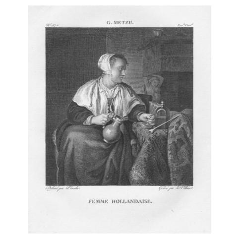 Гравюра «Габриэль Метсю: Голландская женщина»