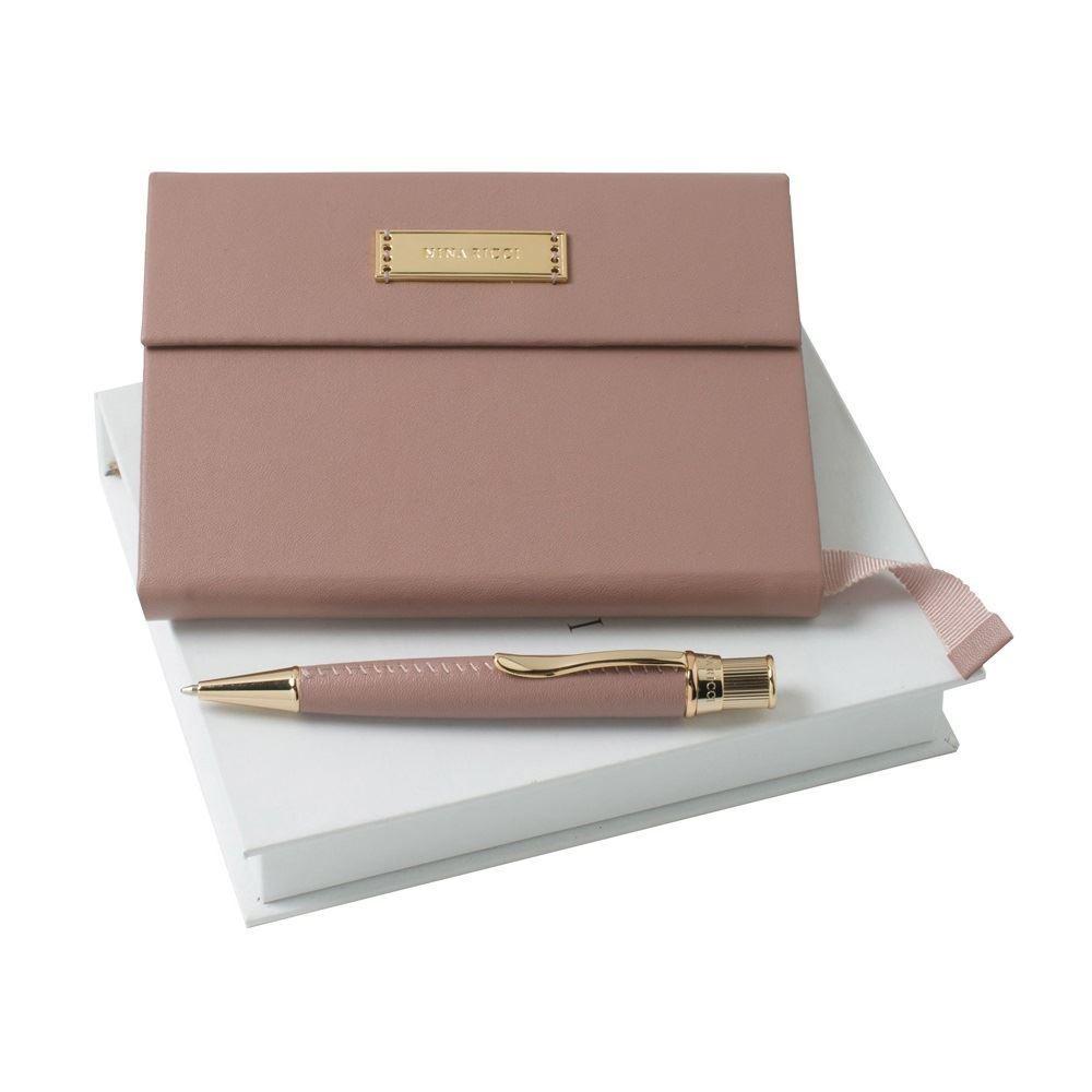 Набор из дизайнерского блокнота А6 и шариковой ручки