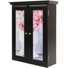 Декоративный настенный шкафчик Ваза с букетом роз венге
