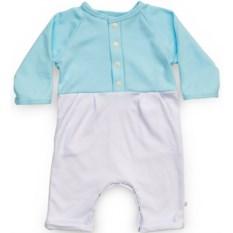 Светло-голубой комбинезон с карманами для мальчика
