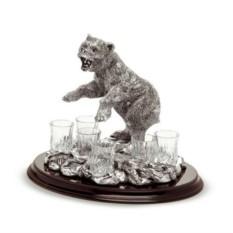 Набор под водку на 6 персон Медведь