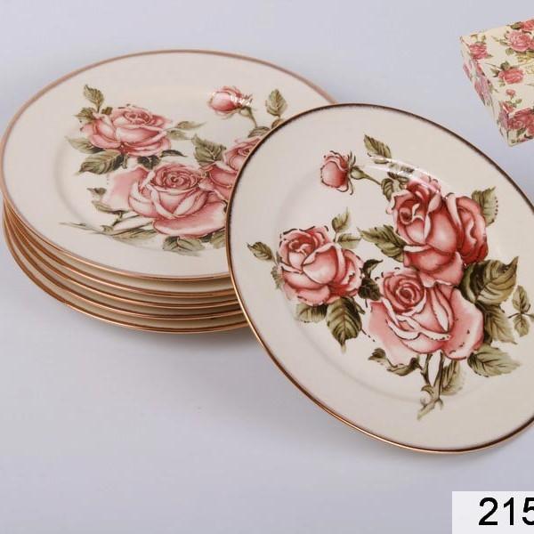 Набор тарелок Роза