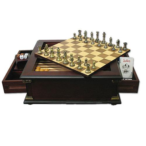 Набор Шахматы, нарды, домино, кости, покер