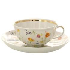Фарфоровый чайный сервиз на 6 персон Полевые цветы