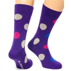 Фиолетовые носки Friday Big Dots