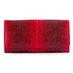 Черный-красным женский кошелек из кожи морской змеи