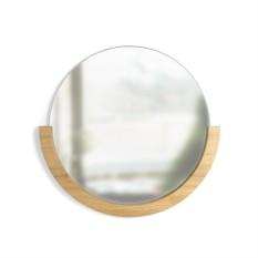 Настенное зеркало Mira (цвет: натуральное дерево)