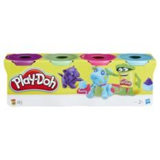 Набор из 4 баночек пластелина Play-Doh