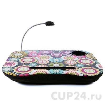 Столик-подставка I-DESK для ноутбука Цветы с подсветкой