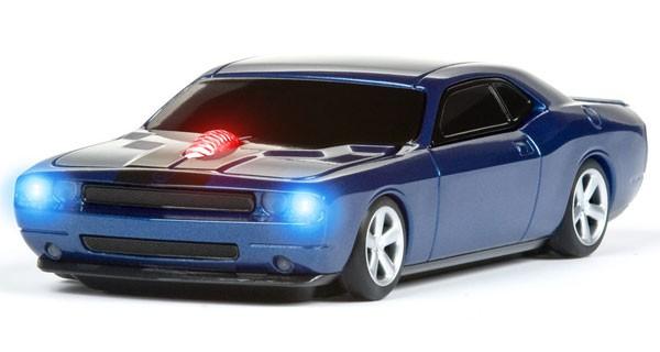 Компьютерная мышь в виде RoadMice Dodge Challenger Blue