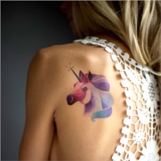 Татуировка переводная Sasha Unisex Unicorn