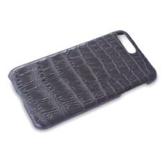 Черный чехол на iPhone 7 plus из крокодиловой кожи