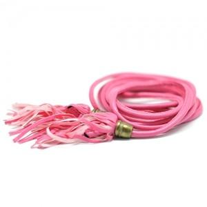 Ремень с кисточками (розовый)