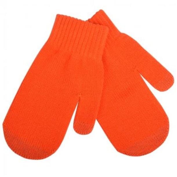 Оранжевые сенсорные варежки In touch