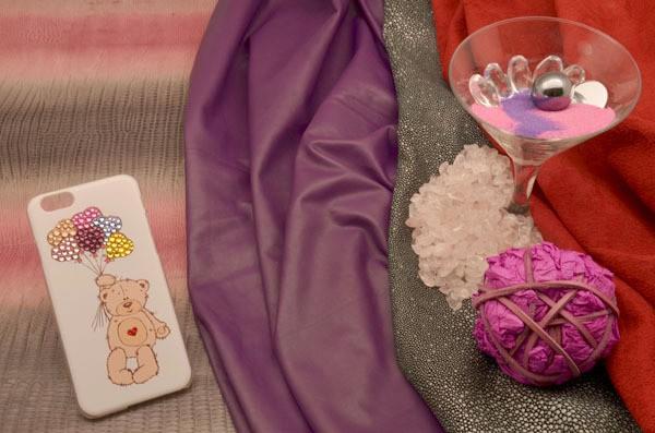 Пластиковый чехол для iPhone 6 «Влюбленный мишка»