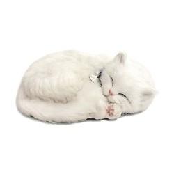 Игрушка Кошка белая короткошерстая с дыханием