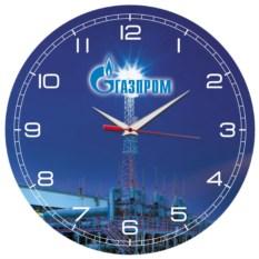 Круглые настенные часы Газпром