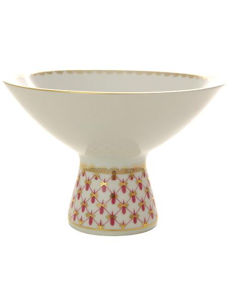 Фарфоровая ваза для мороженого Сетка-блюз