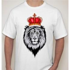 Мужская футболка Лев с красной короной