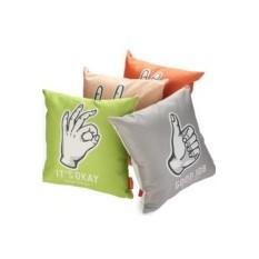 Льняная подушка Signs