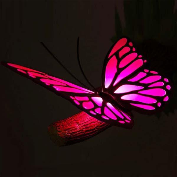 3D-светильник Бабочка, розовый