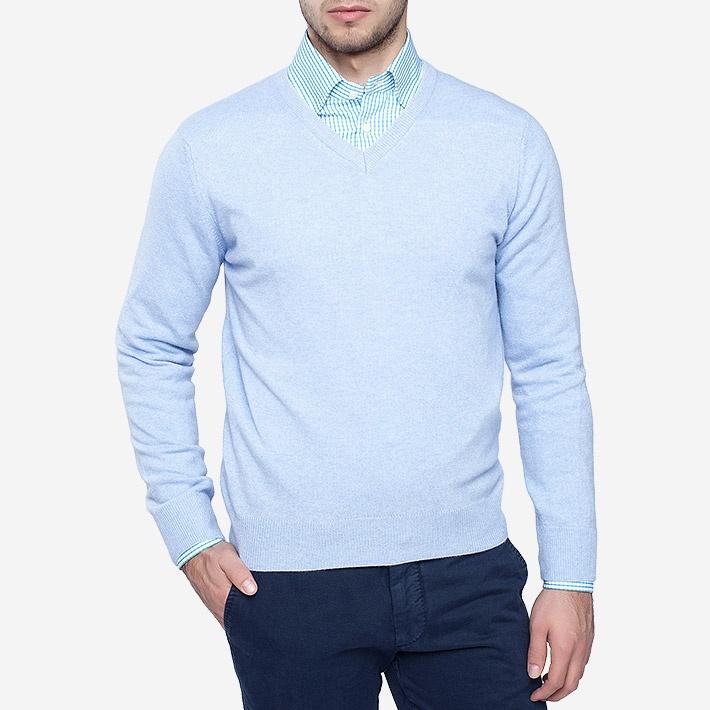 Голубой Пуловер Доставка