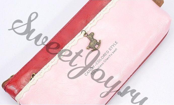 Косметичка Dual Color Pendant (красный с розовым)
