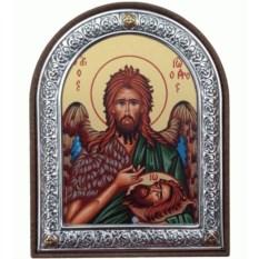 Икона в серебряной раме Иоанн Предтеча