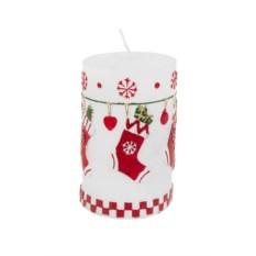 Новогодняя свеча Праздничные носочки