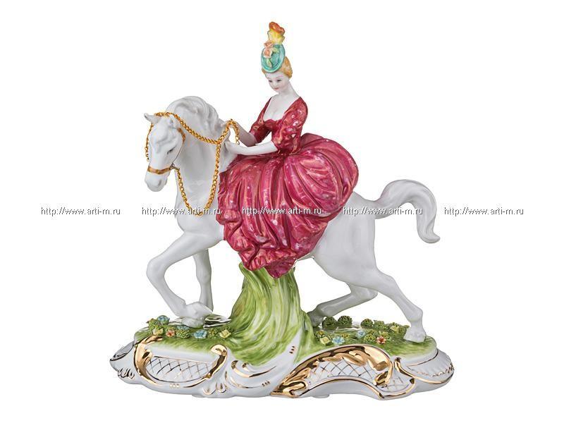 Статуэтка Дама на лошади
