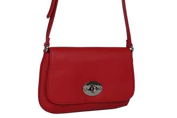 Красная женская сумка Palio из натуральной кожи