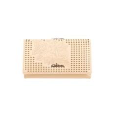 Женский кремовый кожаный кошелек G.Ferretti