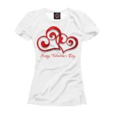 Женская футболка Сердечки для влюбленных