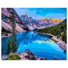 Картина-раскраска по номерам Озеро Морейн