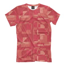 Мужская футболка Сердечная мозайка