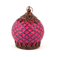Розовый подсвечник-фонарь Маракеш