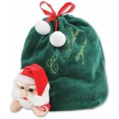 Зеленый мешок для подарков Mister Christmas