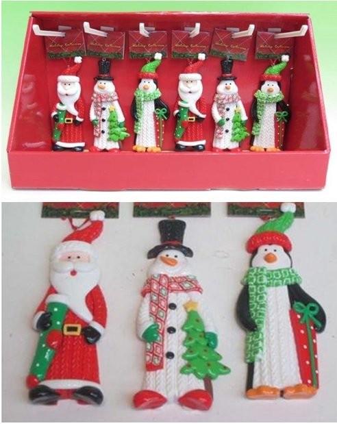 Новогоднее украшение в дисплее Дед Мороз/Снеговик/Пингвин