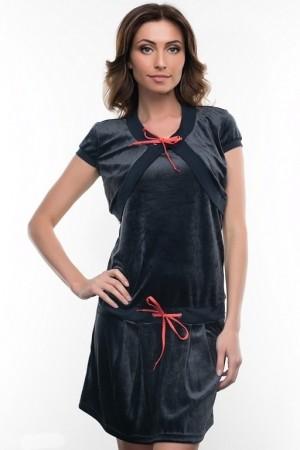 Домашнее велюровое платье с болеро Nic Club