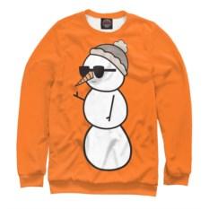 Женский свитшот Крутой снеговик