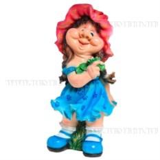Декоративная садовая фигурка Девочка кокетка