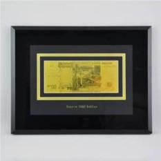 Картина с банкнотой 5000 руб. (Россия) в раме, стекло